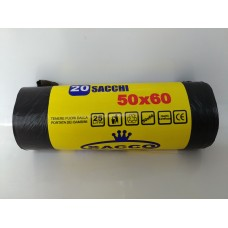 SACCHI NERI 50X60 A ROTOLO PZ.20