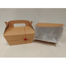 BOX CARRY MEAL C/MANIC 16X11X9 PZ.50